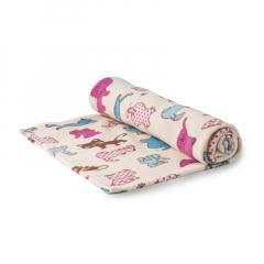英国原产Babble Kids喵星人婴儿毯儿童毯棉毯子 S码
