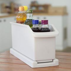 韩国原产CHANGSIN加长可拖拉健康收纳盒收纳架调料架一层