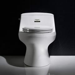 纳蒂兰卡1808新款卫浴坐便器喷射虹吸式抽水马桶 圆形防溅座便器 白色 400mm