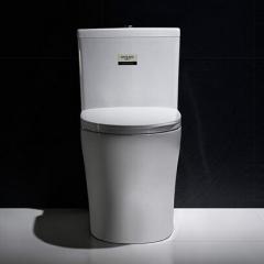 纳蒂兰卡座便器马桶1802陶瓷卫浴漩冲虹吸式连体坐便防溅防臭薄盖板 白色 400mm