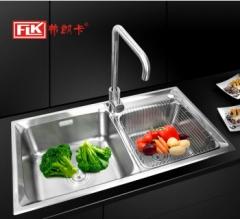 弗朗卡 8043A1 水槽双槽不锈钢洗碗盆 800*430mm 水槽+沥水篮
