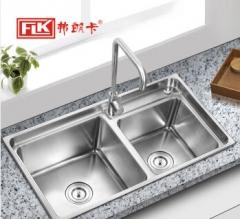 弗朗卡 7843A5 水槽双槽厨盆厨房方槽 780*430mm 水槽+沥水篮