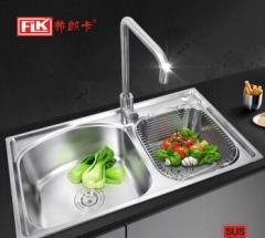 弗朗卡 7843A2 水槽双槽不锈钢厨房洗碗盆 780*430mm 水槽+沥水篮