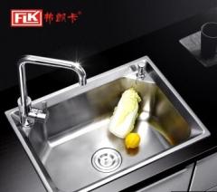 弗朗卡 5843D1拉丝不锈钢水槽单槽 580*430mm