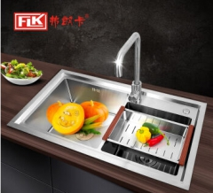 弗朗卡 S8246E 手工水槽双槽 820*460mm 水槽+沥水篮