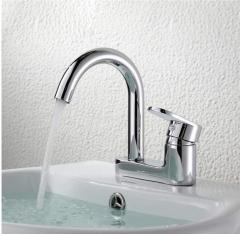 XNYEE/ 心意单把面盆龙头 XY-31008卫生间洗手盆台盆可旋转 冷热水龙头