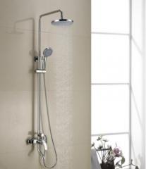 金牌卫浴全铜龙头可升降旋转圆形淋浴器喷头淋浴花洒套装RF13028B
