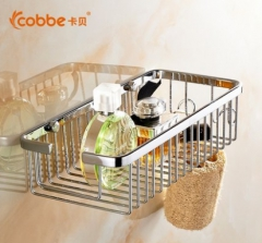 卡贝卫浴不锈钢挂件卫生间置物架层架壁挂浴室转角架厕所方形网篮T8133-90(网篮)