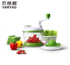瓦良格 创意家居亚马逊手多功能手摇切菜器厨房小工具沙拉料理机