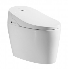 梦佳 2511 智能马桶自动冲洗烘干加热电动一体式家用即热式无水箱坐便器 白色 300mm