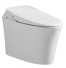 梦佳  8001 一体式智能马桶自动冲洗脚感冲水即热型家用多功能遥控坐便器 白色 300mm