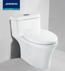 九牧(JOMOO) 双孔对冲抽水马桶 节水静音防臭坐便器座便器11200 白色 400MM