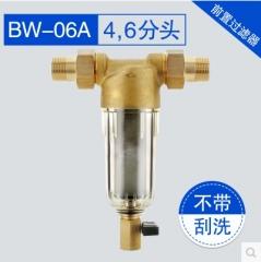 水密码自来水前置过滤器家用全铜自来水过滤器全屋中央净水反冲洗除水垢BW-06A 4分头