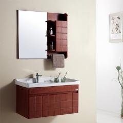 华艺 FA107AA09 易洁一体陶瓷盆浴室柜