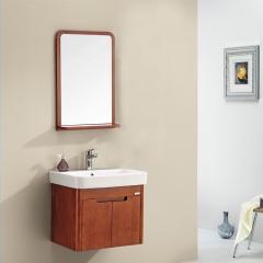 华艺 FA007AA09/11 易洁一体陶瓷盆浴室柜 FA007AA09(浅红棕色)
