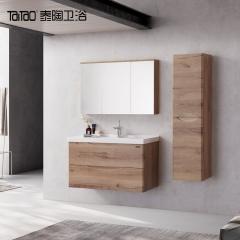 泰陶 LN800 极简一体成型台盆浴室柜