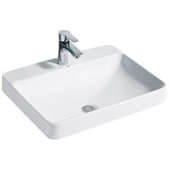 纳蒂兰卡319新款卫浴洗脸洗面洗手洗漱盆卫生间陶瓷方形台上盆 319艺术盆不带龙头