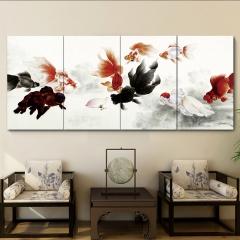 多朗 温控电热板壁画墙暖2000W 取暖器(四连片)