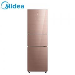 美的(Midea)BCD-239WTGPM 玫瑰金 节能变频风冷无霜三门冰箱家用
