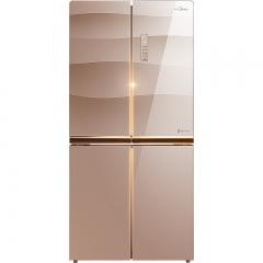 美的(Midea)BCD-432WGPZM玫瑰金对开门家用变频风冷无霜 电冰箱