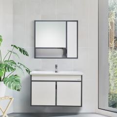 九牧(JOMOO)A2242悬挂式北欧实木现代简约系列浴室柜 A2242  70cm带配件