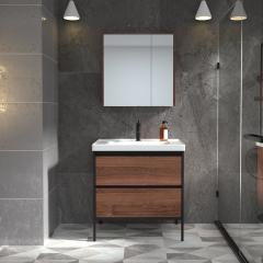 【新品】九牧(JOMOO)A1253 浴室柜组合卫生间洗漱台洗手盆柜工业风浴室柜 A1253双门半镜柜款
