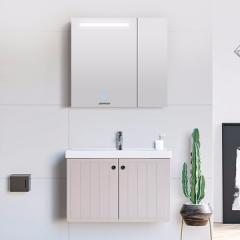 九牧(JOMOO)A2256 简欧浴室柜组合洗漱台镜柜卫浴套装 A2256-60厘米亮光白