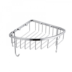 JOMOO九牧浴室挂件不锈钢浴室转角架带挂钩角篮置物架  937139-1D-1