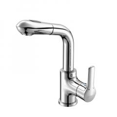 九牧(JOMOO)精铜抽拉式单把单孔面盆冷热水龙头32197-205