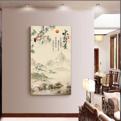 多朗电暖器取暖器家用碳晶墙暖壁画DIY定制暖风机HDJ-5B 水韵竹景(500w)