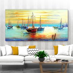 多朗碳晶墙暖壁画 DL-8B 渔舟唱晚