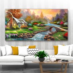 多朗碳晶墙暖壁画 DL-8B 小桥流水