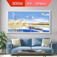 多朗碳晶墙暖壁画取暖器壁挂家用节能速热电暖器省电静音电暖画 流年印象 800W