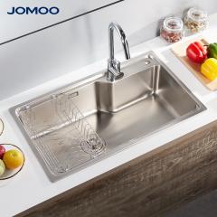 九牧水槽单槽304不锈钢洗菜盆洗碗盆水槽套餐06212/02233 06212-7Z-1裸槽