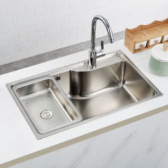 九牧水槽厨房304不锈钢家用洗菜洗碗盆水槽裸槽06179、套餐02230 06179裸槽