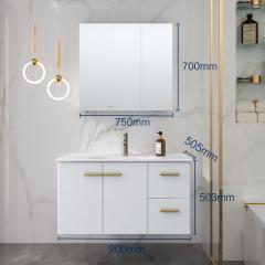 九牧JOMOO浴室柜组合 白色轻奢A2257 A2257双抽款(90cm)