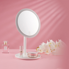 九牧 937228-00-1 美容镜多功能台式美容灯镜三色光白色镜子梳妆镜