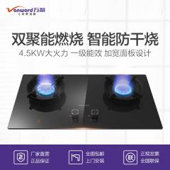 万和 NL06F 高效双聚能燃烧 钢化黑晶面板燃气灶 液化气