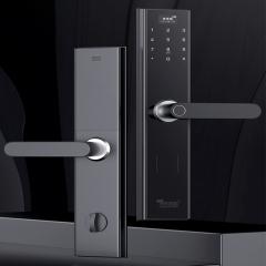 灵灵狗指纹锁家用防盗门智能门锁电子密码锁十大品牌智能指纹m1 无需安装