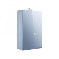 万和 Y3 幻彩全面屏彩晶玻璃WIFI语音控制燃气热水器 天幕蓝 14L