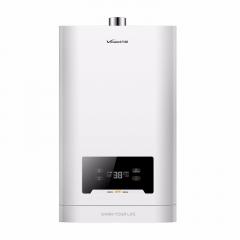万和 16L 一键增压 零冷水燃气热水器L1系列(高光白,天然气)