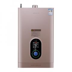 万和 16L小圆点双屏远程智控 零冷水燃气热水器L3-2系列(流沙金,天然气)