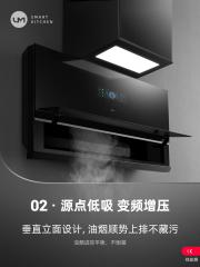 优盟 UT120 抽油烟机家用大吸力顶吸侧吸式抽烟机自动清洗